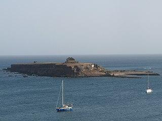 Ilhéu de Santa Maria island in Cape Verde