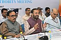 Prakash Javadekar addressing at the launch of the unique portal and mobile app of Rashtriya Uchchatar Shiksha Abhiyan (RUSA), a body under the aegis of the Ministry of Human Resource Development, in New Delhi.jpg