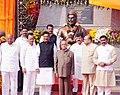 Pranab Mukherjee unveiled the Statue of Chhatrapati Shivaji Maharaj, at Kalwa Naka, Distt. Thane, Maharashtra. The Governor of Maharashtra, Shri K. Sankaranarayanan.jpg