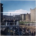 President's Trip to Europe- President mounts platform overlooking Berlin Wall. President Kennedy, others in party... - NARA - 194226.tif