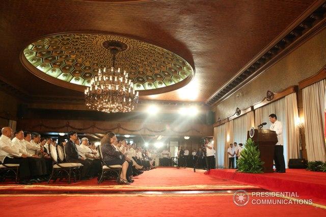 President Rodrigo Duterte during an oath-taking ceremony of new officials 1