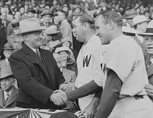 1947 in the United States - President Truman on opening day of the baseball season, 1947