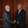 Prime Minister Narendra Modi and Fijian Prime Minister Frank Bainimarama.jpg