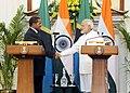 Prime Minister Narendra Modi shakes hands with Tanzanian President Jakaya Kikwete.jpg