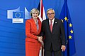 Prime Minister Theresa May met with Jean-Claude Juncker, President of the European Commission, after the European Council meeting.jpg