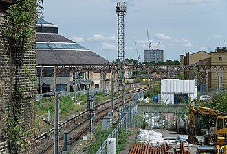 Primrose Hill railway station - The disused platforms in 2014