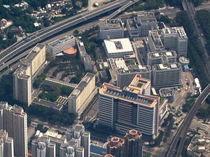 Prince of Wales Hospital - Aerial view of the hospital