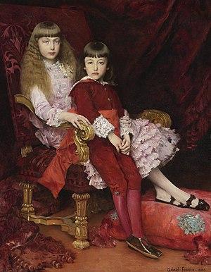 Gabriel Ferrier - Image: Princess Marguerite d'Orléans (1869–1940) and Prince Jean d'Orléans (1874 1940) by Gabriel Joseph Marie Augustin Ferrier