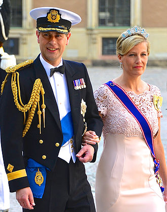 Royal Victorian Order - The Countess of Wessex (right) wearing the riband of a Dame Grand Cross of the Royal Victorian Order