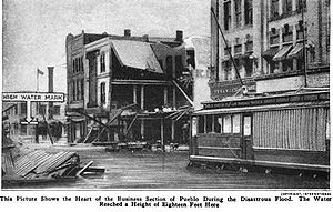 Union Avenue Historic Commercial District - Caption from Popular Mechanics Magazine, 1921