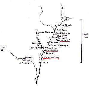 Juan Álvarez de Eulate y Ladrón de Cegama - Pueblos in the Rio Grande valley of New Mexico