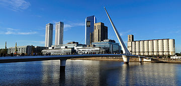 The Woman's Bridge in Puerto Madero, Buenos Aires