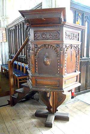 Church of St Mary the Virgin, Ashwell - The pulpit was installed in 1627