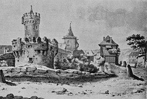 Georg Melchior Kraus - Image: Pulverturm Unddas Johannistor In Jena Von Georg Melchior Kraus