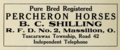 Pure bred registered Percheron horses - Tuscarawas Township - Massilon Ohio - 1915 advertisement.tiff