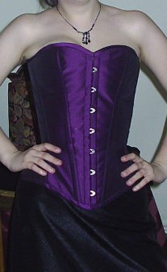Corset - Custom-fitted overbust corset made by corsetière in 2006
