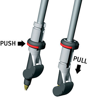 Nordic walking - Spike for offroad and rubber for asphalt