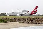 Qantas (VH-VYK) Boeing 737-838(WL) taxiing at Sydney Airport (1).jpg