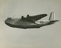 Qantas Short C Class Empire flying boat VH-ABB 'Coolangatta', ca. 1940.jpg