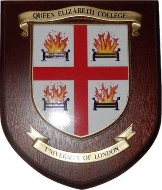 Queen Elizabeth College - Coat of arms of Queen Elizabeth College