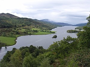 River Tummel - The 'Queen's View', Loch Tummel.