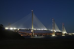 Queensferry Crossing - Image: Queensferry Crossing view 01 2017 03 16
