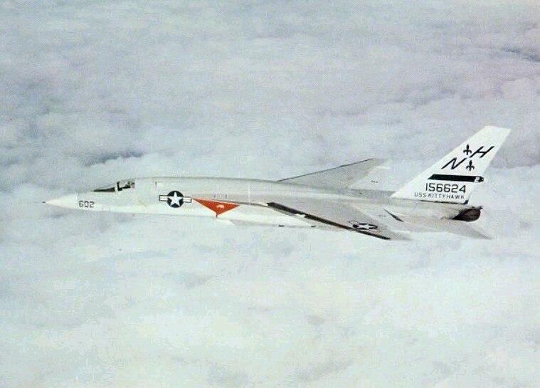 RA-5C RVAH-6 in flight 1970