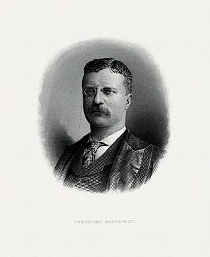 Theodore Roosevelt Digital Library - Image: ROOSEVELT, Theodore President (BEP engraved portrait)