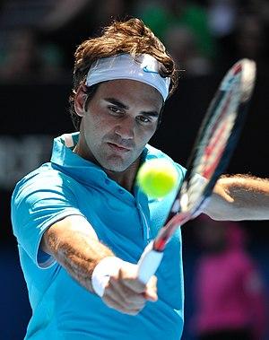 Roger Federer at the Australian Open 2010.