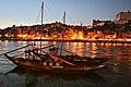 Rabelo Boat, Evening Light on Porto (10247683023).jpg