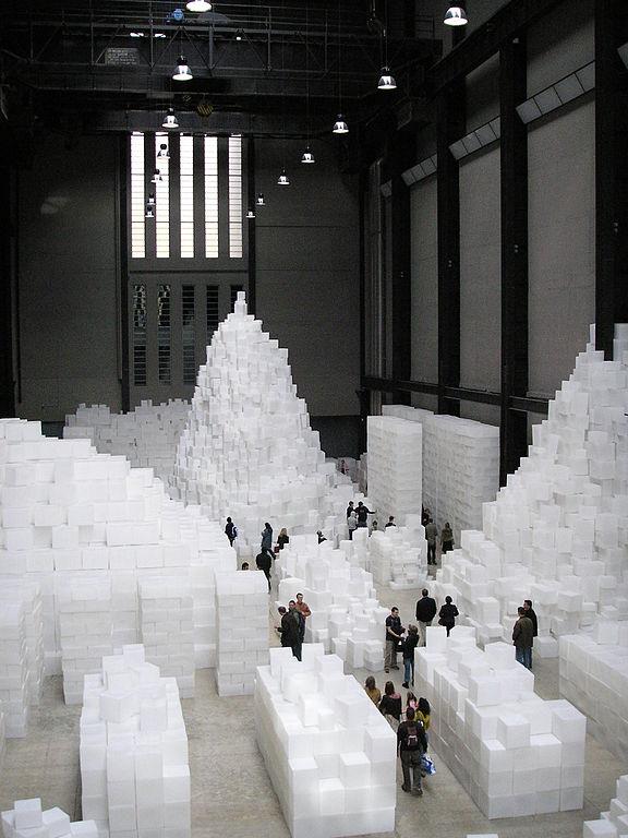 Installation de Rachel Whiteread dans la Tate Modern à Londres.