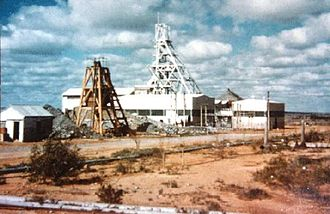 Anti-nuclear movement in Australia - Radium Hill, a former minesite in South Australia which operated from 1906 until 1961. It was Australia's first uranium mine, years before the country's next major mines at Rum Jungle in the Northern Territory (opened in 1950), and the Mary Kathleen mine in Queensland (1958).