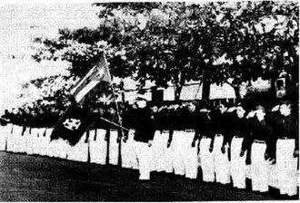 Cadets of the Republic - Raimundo Díaz Pacheco commanding the Nationalist Cadets
