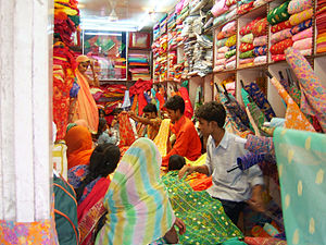 Retailing in India - A textile retail store in India