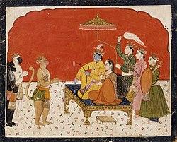 Rama's Court, Folio from a Ramayana (Adventures of Rama) LACMA AC1999.127.36.jpg