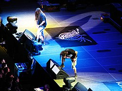 Randy Blythe e Willie Adler durante il Wrath Tour 2009