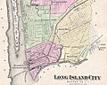 Ravenswood, Dutch Kills, Hunters Point, Blissville, Calvary Cemetery, Laurel Hill - 1873 Beers Map of Astoria and Long Island City, Queens, New York - Geographicus - LongIslandCity-beers-1873 (cropped).jpg