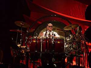 Ray Cooper - Ray Cooper during a tour with Elton John in January 2010, at a concert in Hawaii