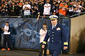 Rear Adm. Parks saluted during Chicago Bears Monday Night Football game. DVIDS1123446.jpg