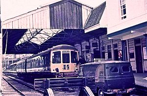 British Rail Class 103 - A Class 103 at Kingswear station in 1972.