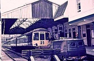 Dartmouth Steam Railway - A British Rail Class 103 at Kingswear in 1972