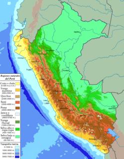 Life zones of Peru