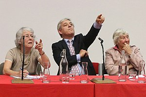 Helen Wallace - Helen Wallace (left) at a discussion with John Bercow and Shirley Williams.