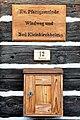 Reichenau Wiedweg Evang Pfarrhof Holzschild und Briefkasten 23112012 492.jpg