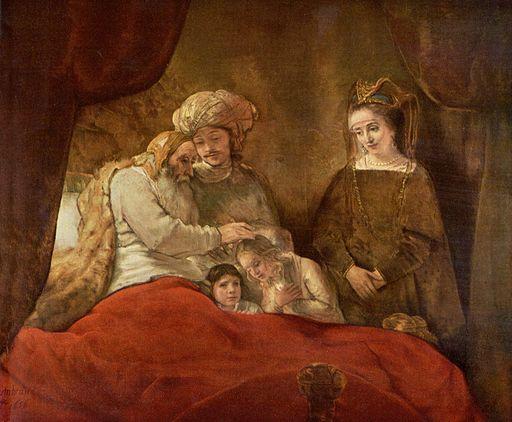 Rembrandt Harmensz. van Rijn - Jacob Blessing Ephraim and Manasseh - Schloss Wilhelmshöhe Kassel