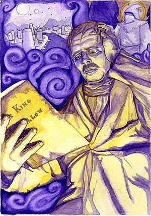 "The King in Yellow - Hildred Castaigne in ""The Repairer of Reputations"", illustration by Tucker Sherry."
