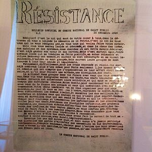 Underground media in German-occupied Europe - Résistance, one of France's first underground newspapers, from 15 December 1940