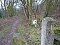 Restricted Byway at entrance to Beggarswell Wood - geograph.org.uk - 1739403.jpg