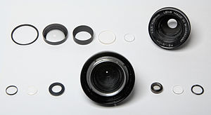 Photographic lens design - Elements of a cheap 28mm lens.
