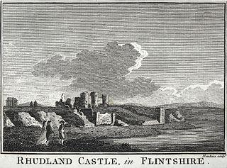 Rhudland Castle, in Flintshire